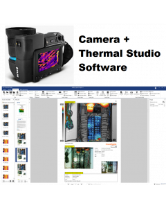 FLIR - T1010 IR Camera 1024 x 768 Resolution/30Hz w/45° Lens and NIST Calibration with FLIR Thermal Studio Pro - 12 Month Subscription
